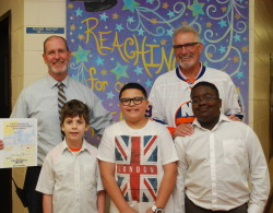 Hockey Celebrity Selects Student Artwork for Charity Event