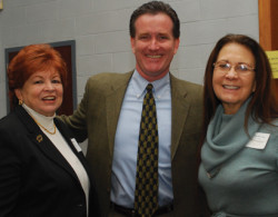 NYS Senator John Flannagan (R) meets with Jeannette Santos and Ilene Herz.
