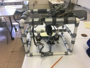Remotely Operated Vehicle (ROV) created by students in the Outdoor Environmental Education Program