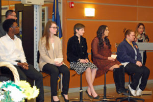 Wilson Tech Student Panelists share their stories at Western Suffolk BOCES PTA Night 2017.