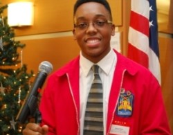 Jahad Hoyte, a second year student in Wilson Tech's Aviation Science/Flight