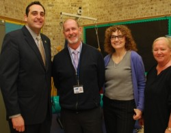 Assemblyman Lupinacci Visits James E. Allen Elementary School.