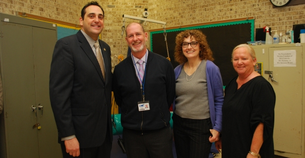 Assemblyman Lupinacci Visits James E. Allen Elementary School.